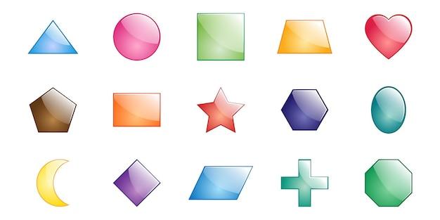 Formas geométricas básicas para actividades de libros de matemáticas para niños.