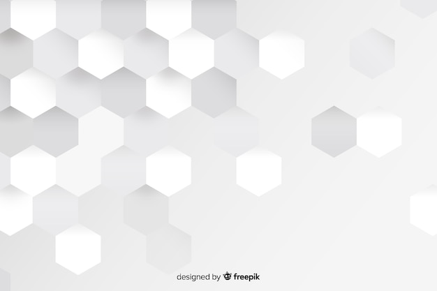 Formas geométricas blancas en papel.