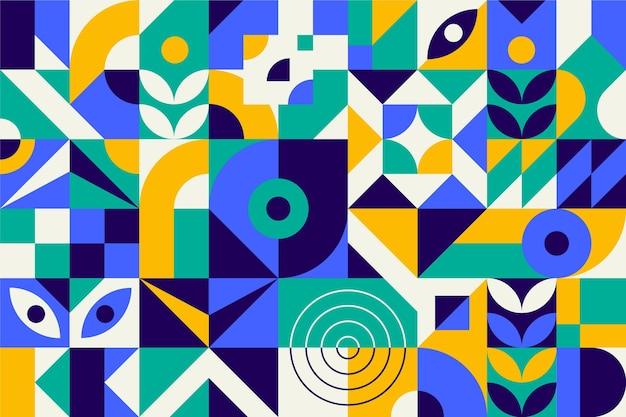 Formas geométricas coloridas abstractas vector gratuito