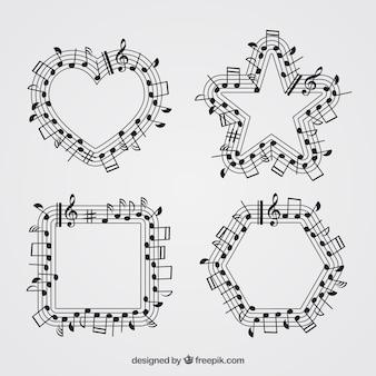 Formas geométricas con diseño de pentagrama