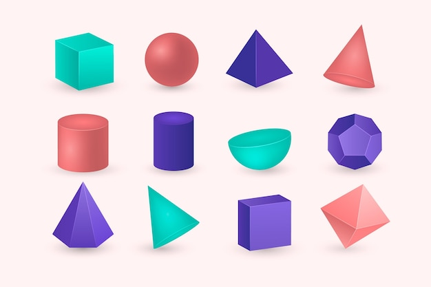 Formas geométricas en efecto 3d