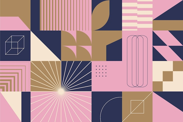Formas geométricas de fondo abstracto