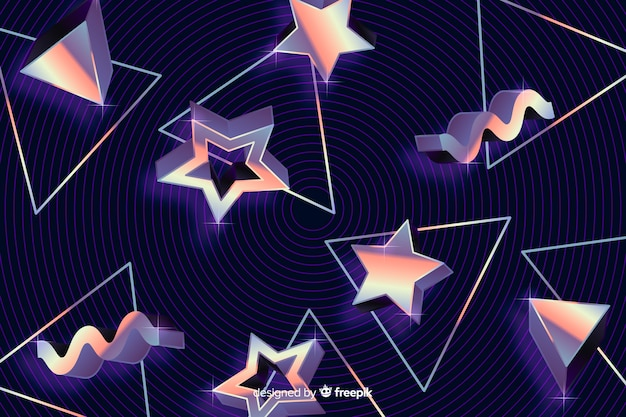 Formas geométricas de fondo estilo años ochenta