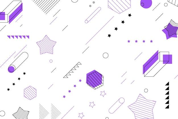 Formas geométricas y fondo de estrellas