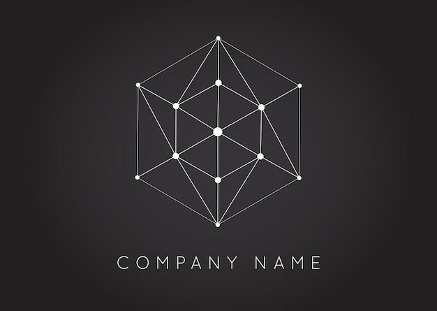 Formas geométricas logotipo de vector inusual y abstracto. logotipos coloridos poligonales.