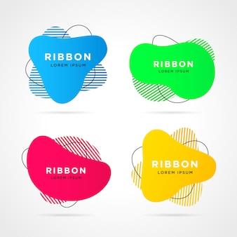 Formas geométricas planas de diferentes colores.
