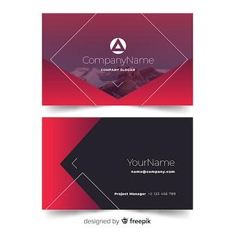 Formas geométricas de plantilla de tarjeta de visita