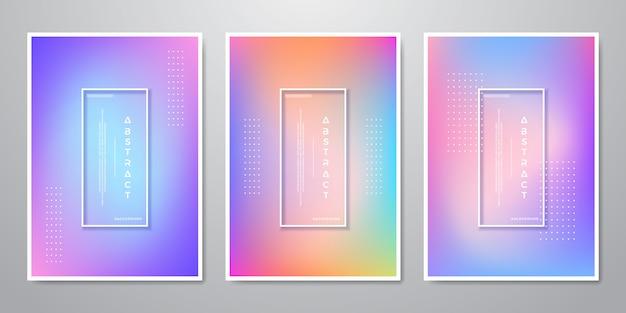 Formas de gradiente de moda abstractas fondos holográficos