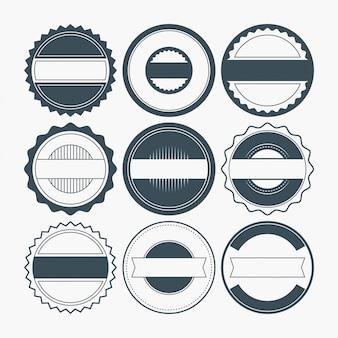 Formas de insignia en blanco