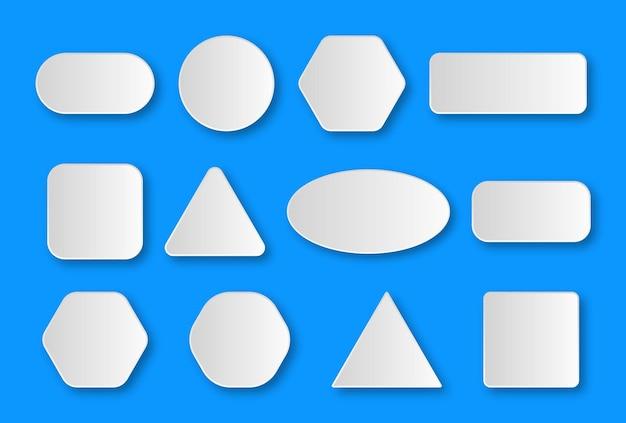 Formas de pegatinas blancas