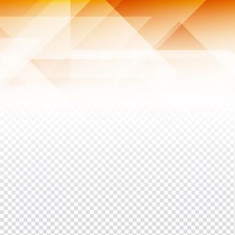 Formas poligonales naranjas sobre un fondo transparente