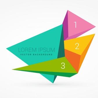 Formas triangulares 3d con los números