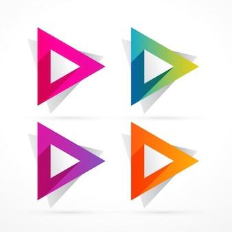 Formas triangulares abstractas coloridas