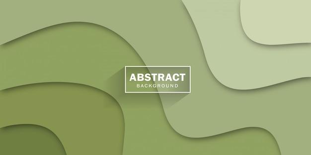 Formas verdes abstractas para diseño de carteles y pancartas.