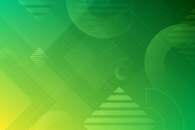 Formas verdes sobre fondo verde