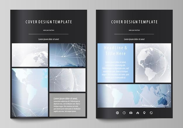 Formato a4 cubre plantillas de diseño para folleto.