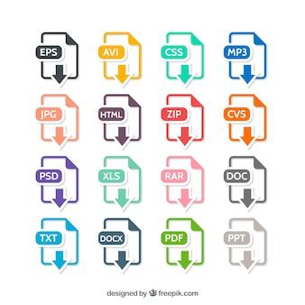 Formatos de archivo coloridos