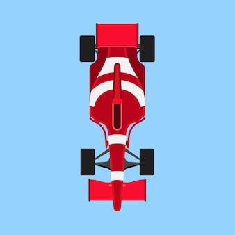 Fórmula 1 carrera coche deportivo icono vista superior.