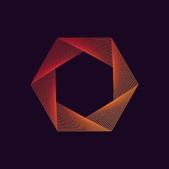 Forro dinámico de forma hexagonal