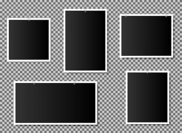 Foto del álbum de fotos. marco de tarjeta de memoria aislado