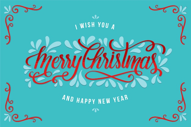 Foto de navidad con feliz navidad letras