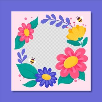 Foto de perfil marco de facebook floral