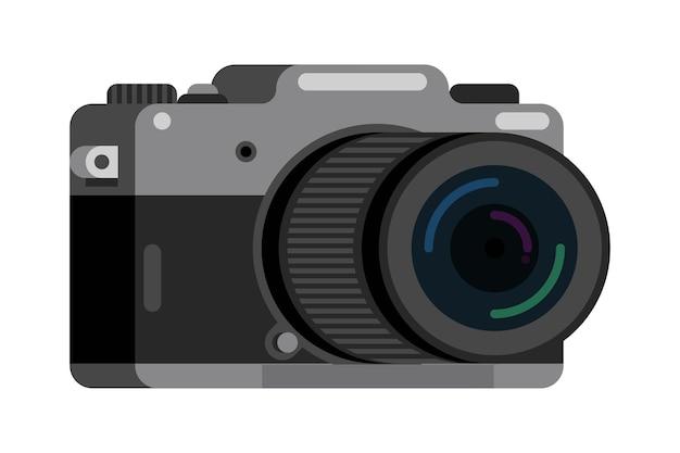 Fotografía de cámara digital sin espejo vector