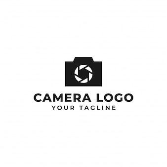 Fotografía de cámara, diseño de logotipo de obturador