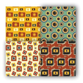 Fotografía de patrones sin fisuras conjunto
