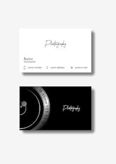 Fotografía de tarjeta de negocios