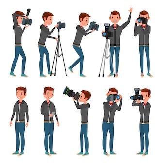 Fotógrafo conjunto chracter