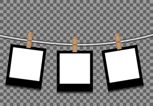 Fotos colgadas de una cuerda