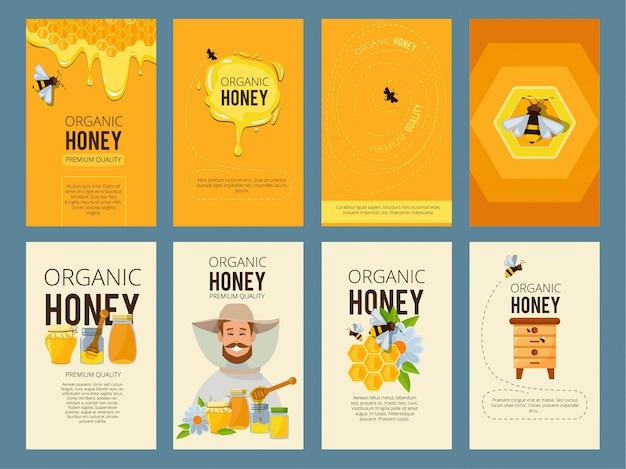 Fotos de miel, colmena y encerado.