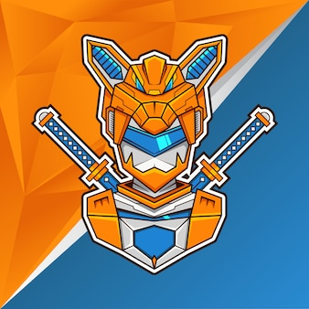 Fox assasin head illustration- logotipo de esports