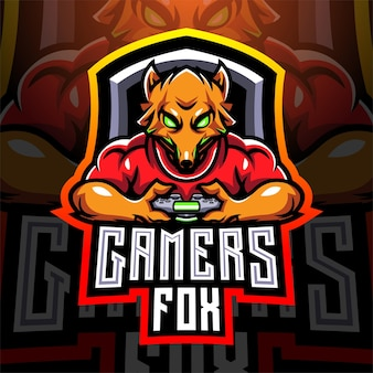Fox gamers esport con joystick game-pad