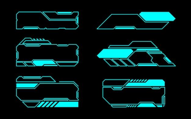 Frame set tecnología futura interfaz hud.