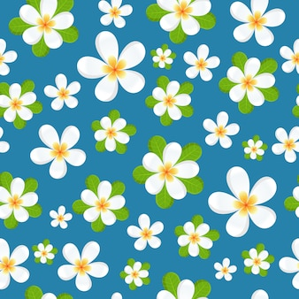 Frangipani flores de patrones sin fisuras
