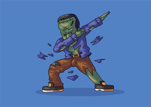 Frankenstein dabbing halloween