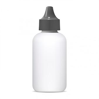 Frasco cuentagotas, aerosol nasal médico 3d en blanco