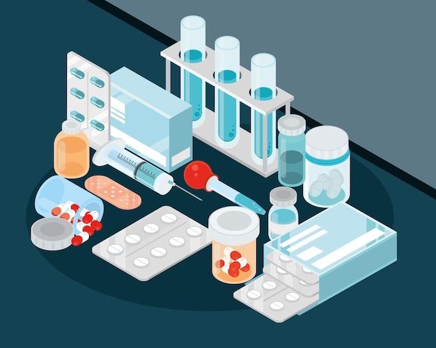 Frascos y píldoras médicas