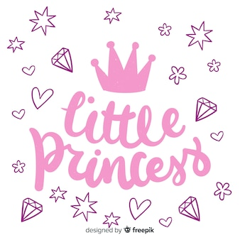 Frase con caligrafía en estilo princesa