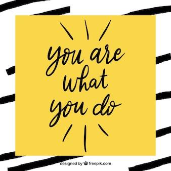 Frase motivacional moderna en color amarillo