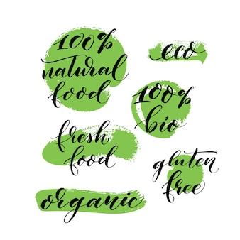 Frase orgánica de caligrafía manuscrita.