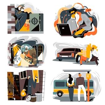 Fraudes y defraudadores, delincuentes que roban dinero a ciudadanos en la calle o en cuentas bancarias.