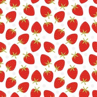 Fresa fresca de patrones sin fisuras. concepto de fresa dulce.