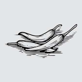 Frío en estilo gráfico dibujado a mano ilustración