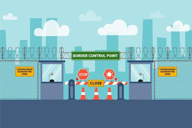 Frontera cerrada por pandemia