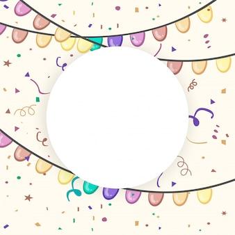 Frontera clásico globo tarjeta celebración