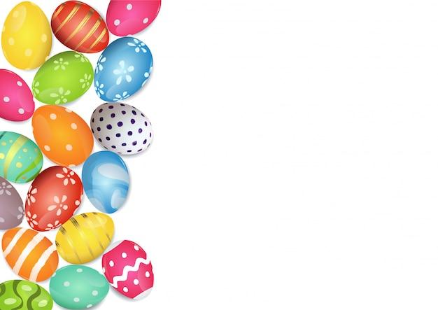 Frontera de coloridos huevos de pascua