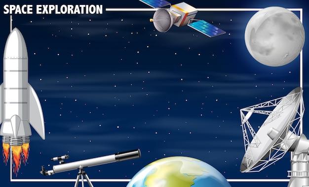 Una frontera de exploración espacial.